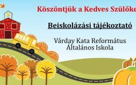 Beiskolázási tájékoztató - Várday Kata Református Általános Iskola